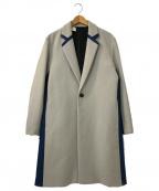 DIESEL(ディーゼル)の古着「デニム切替チェスターコート」|ベージュ×インディゴ