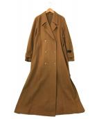 ()の古着「BELT FLARE LONG COAT」 ベージュ