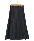 tricot COMME des GARCONS(トリココムデギャルソン)の古着「ウールギャザースカート」 ネイビー