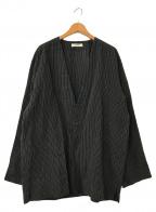 nestrobe confect(ネストローブ コンフェクト)の古着「リネン ペーパーストライプジャケット」 ブラック