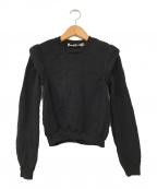 COMME des GARCONS()の古着「90'sショルダーデザインニット」|ブラック