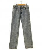 Maison Margiela 10(メゾンマルジェラ 10)の古着「ケミカルウォッシュデニムパンツ」|ブルー