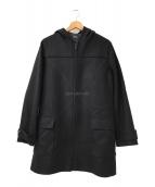 ()の古着「フーデッドウールコート」 ブラック