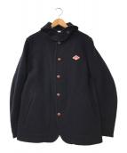 ()の古着「丸襟ウールモッサジャケット」 ネイビー