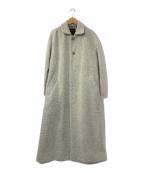 pas de calais(パドカレ)の古着「ウールステンカラーコート」|ライトグレー