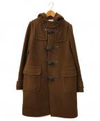 BEAUTY&YOUTH(ビューティアンドユース)の古着「パイルメルトンミドルダッフルコート」|ブラウン