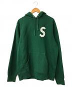 SUPREME()の古着「S Logo Hooded Sweatshirt」|グリーン