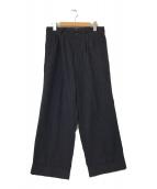 ()の古着「刺繍デザインタックパンツ」 ネイビー×ブラック