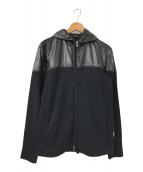 ()の古着「ナイロン切替ジップパーカー」 ブラック