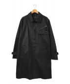 ()の古着「高密度ボンディングステンカラーコート」 ブラック