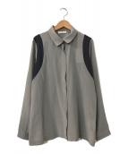 ()の古着「シルクシャツ」 グレー