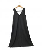 fig LONDON(フィグロンドン)の古着「chicアンブレラジャンパースカート」|ブラック