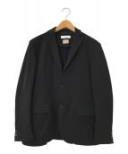 ()の古着「TORAY ツイル ジャージ 2B ジャケット」 ブラック