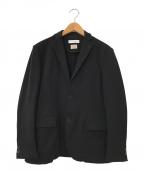 BEAUTY&YOUTH(ビューティアンドユース)の古着「TORAY ツイル ジャージ 2B ジャケット」|ブラック