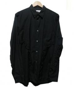 COMME des GARCONS SHIRT(コムデギャルソンシャツ)の古着「フリルステッチシャツ」|ブラック