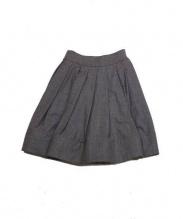 CELINE(セリーヌ)の古着「ウールタックスカート」|グレー