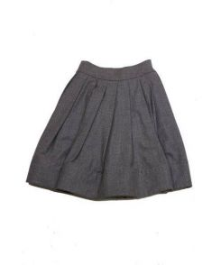 CELINE(セリーヌ)の古着「ウールタックスカート」 グレー