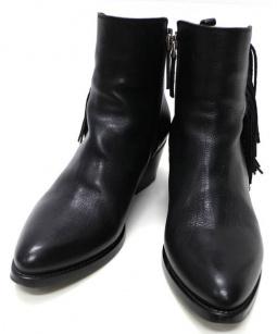 SARTORE(サルトル)の古着「フリンジショートブーツ」|ブラック