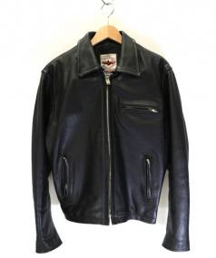 AC/DC(エーシー・ディーシー)の古着「シングルレザージャケット」|ブラック