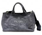 PRADA(プラダ)の古着「ブラックデニムトートバッグ」