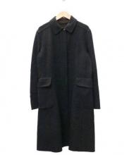 CIVIDINI(チヴィディーニ)の古着「カシミヤ混ステンカラーコート」|グレー