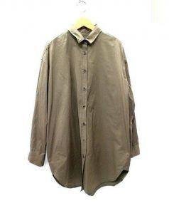 DEUXIEME CLASSE(ドゥーズィエムクラス)の古着「バックポケットシャツワンピース」|グリーン