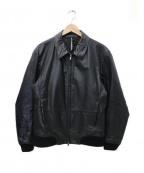 blackbarrett(ブラックバレット)の古着「レザージャケット」 ブラック