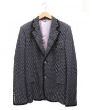 GUCCI(グッチ)の古着「パイピングウールジャケット」|グレー