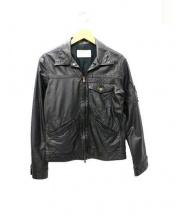 androgynous(アンドロジナス)の古着「レザージャケット」 ブラック