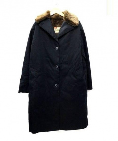 Traditional Weatherwear(トラディショナルウェザーウェア)の古着「ファーカラーコート」|ブラック
