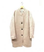 DES PRES(デプレ)の古着「ウールツィードコクーンコート」 ライトピンク