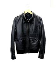 LOUNGE LIZARD(ラウンジリザード)の古着「カウレザージャケット」 ブラック