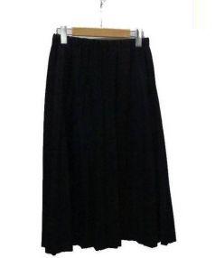 tricot COMME des GARCONS(トリココムデギャルソン)の古着「ウールギャバ先染プリーツスカート」|ネイビー