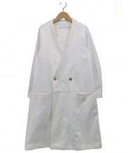 ASEEDONCLOUD(アシードンクラウド)の古着「コットンチェスターコート」 ホワイト