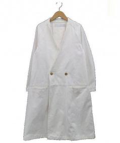ASEEDONCLOUD(アシードンクラウド)の古着「コットンチェスターコート」|ホワイト