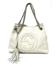 GUCCI(グッチ)の古着「チェーンショルダーバッグ」|ホワイト
