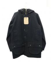 KATO(カトー)の古着「メルトンフーデットコート」 ネイビー