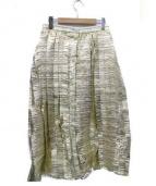 TARO HORIUCHI(タロウホリウチ)の古着「フロントボタンスカート」 ゴールド