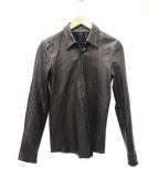 junhashimoto(ジュンハシモト)の古着「レザーシャツ」|ブラック