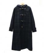 bulle de savon(ビュル デ サボン)の古着「メリノウールメルトンロングダッフルコート」|グリーン