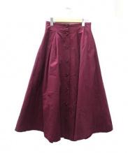 To b. by agnes b.(トゥービーバイアニエスベー)の古着「ロングスカート」|パープル