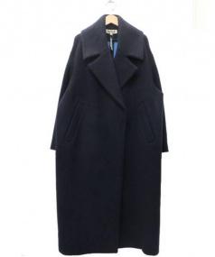 ENFOLD(エンフォルド)の古着「ソフトリーバーコクーンコート」|ネイビー