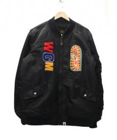 A BATHING APE(ア・ベイシング・エイプ)の古着「MA-1ジャケット」|ブラック