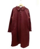 RIPPLE YoHINTEN(リップルヨウヒンテン)の古着「シャツワンピース」|レッド