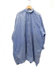 INDIVIDUALIZED SHIRTS(インディヴィジュアライドシャツ)の古着「ワイドシャツ」|ブルー