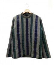 sacai(サカイ)の古着「切替ニットプルオーバー」 ブラウン×グリーン