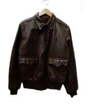 J.A.DUBOW(J.A.ドュボウ)の古着「A-2フライトジャケット」|ブラウン