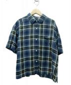 MARGARET HOWELL(マーガレットハウエル)の古着「リネンシャツ」|ブルー