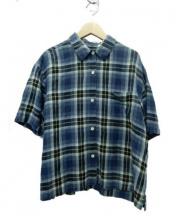 MARGARET HOWELL(マーガレットハウエル)の古着「リネンシャツ」 ブルー