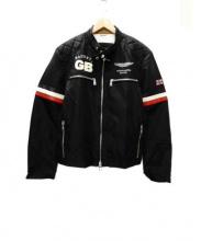HACKETT(ハケット)の古着「レーシングジャケット」|ブラック